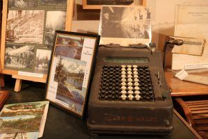 Historical Display Featuring Antique Typewriter